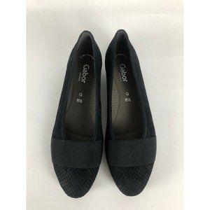 New Gabor Black Cobra Nubuk Schwarz Walking Shoe 9